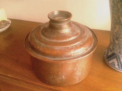 antigua cacerola cobre arabia cm de dimetro cm de alto