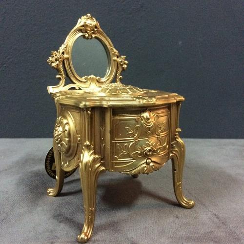 antigua caja alhajero frances en bronce comoda luis xv
