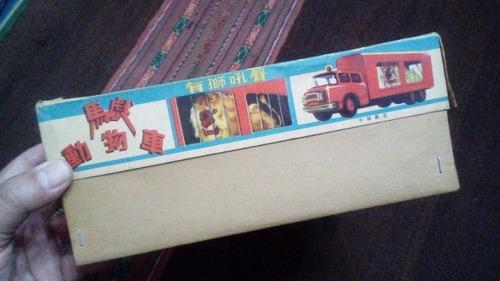 antigua caja camión circus animal truck made in china del 70