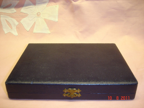 antigua caja con juego de 6 cuharitas 10 cm coleccion(3567)