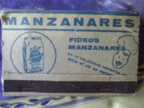 antigua caja de fosfos  publicidad manzanares sin uso