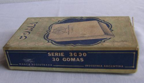 antigua caja de goma superfina dos banderas