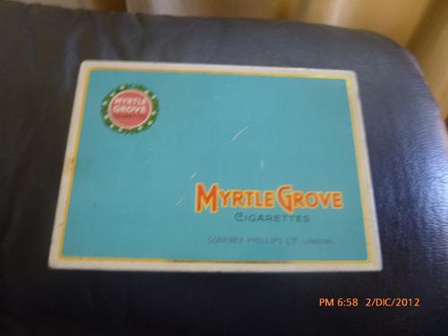 antigua caja de lata  de cigarros myrtle grove  inglater(e3