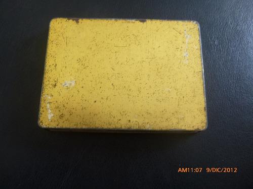 antigua caja de lata  de cigarros turf  inglaterra (e3