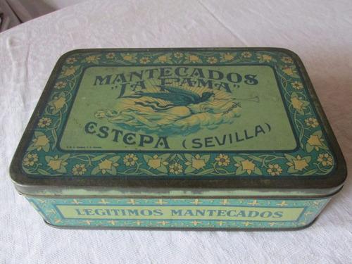 antigua caja de metal galletas