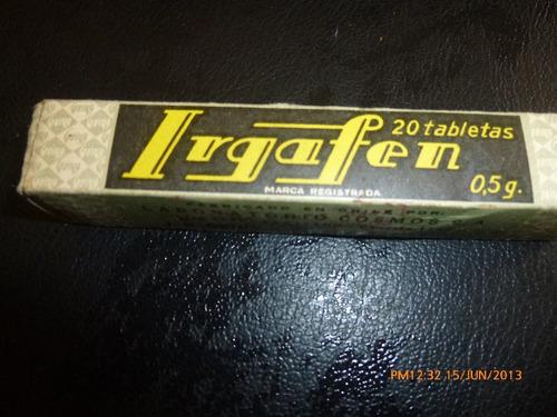 antigua caja de remedio irgafen lab cosmo