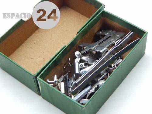 antigua caja vacía cartón herramientas máquina coser singer