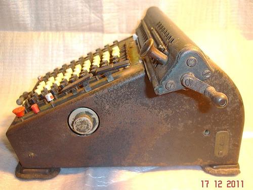 antigua calculadora arithmometer de coleccion numerad(3864p)