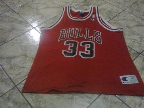 antigua camiseta chicago bulls pipen marca champion