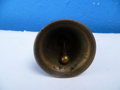 antigua campana bronce  siglo xix. original.