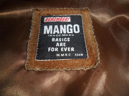 antigua campera mango¡ hombre, de cuero exelente¡ original
