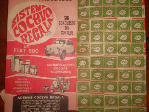 antigua cartilla de concurso  auspiciado por coca cola(1965
