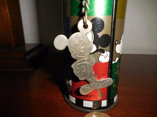 antigua cartuchera o portalápices escolar mickey mouse