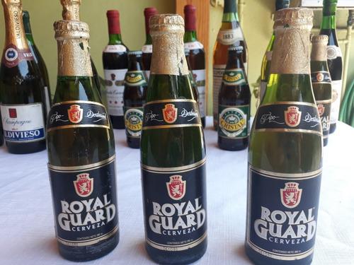 antigua cerveza royal guard sellada año 1992 de 280 cc.