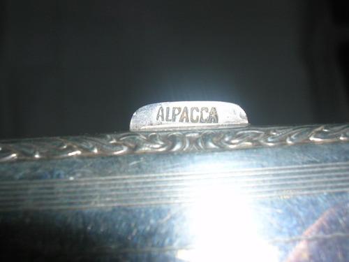 antigua cigarrera de alpaca