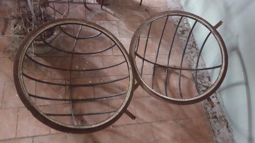 antigua claraboya de hierro redonda robusta-precio x c/una