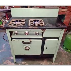 Antigua Cocina A Kerosén Transf. A Gas Enlozada Funciona