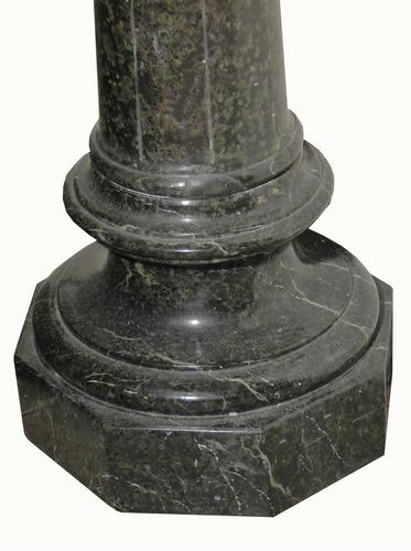 antigua columna pedestal de mármol verde alpe (803)