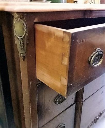 antigua cómoda francesa petit mueble luis xv