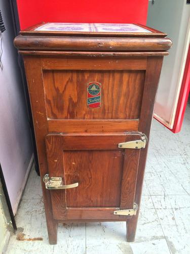 antigua conservadora de madera alemania 192? antiguo retro v