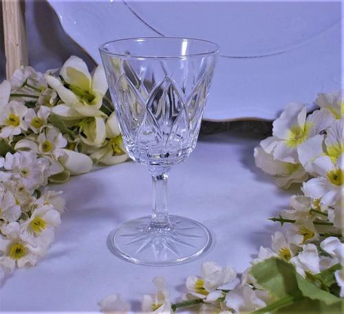 antigua copa copita de cristal  para licor  8.5 cm