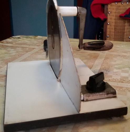 antigua cortadora de cecinas alemana