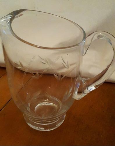 antigua cristal jarra