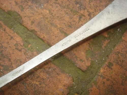 antigua cuchara de alpacca dos mundos - germany