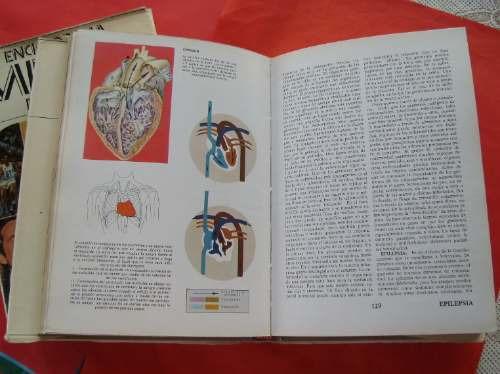 antigua, curiosa enciclopedia médica familiar- 2 tomos-libro