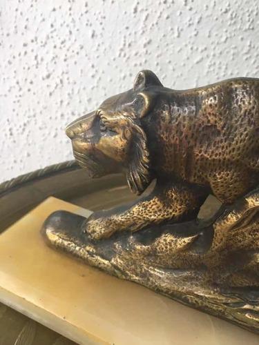 antigua escultura de bronce