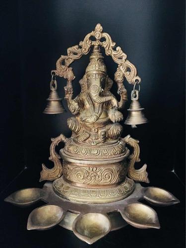 antigua escultura de bronce ganesha deidad indu india dios i