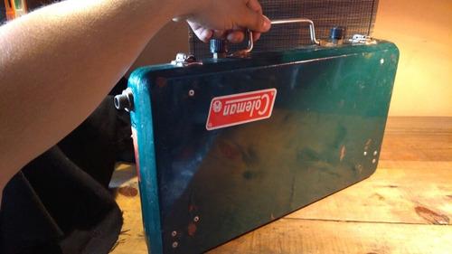 antigua estufa coleman portatil 2 quemadores