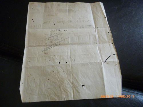 antigua factura fabrica de colchones la victoria 1912