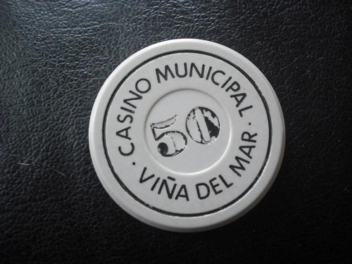 antigua ficha casino viña del mar  50 pesos (d36