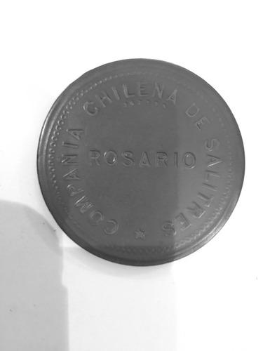 antigua ficha compañía chilena salitrera rosario $2 roja 45m