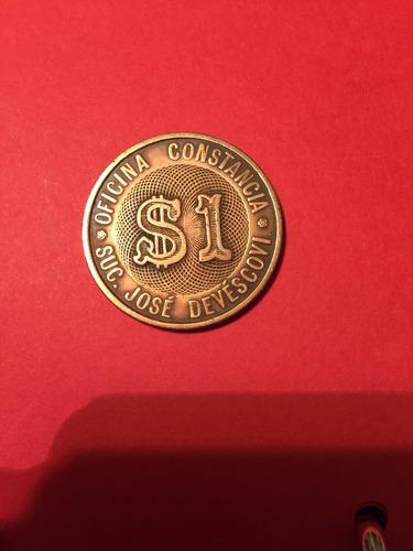 antigua ficha salitrera oficina constancia josé devescovi $1