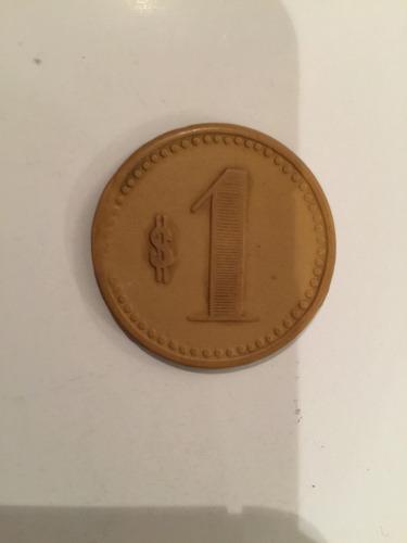 antigua ficha salitrera oficina pan de azúcar $1 ocre 35 mm