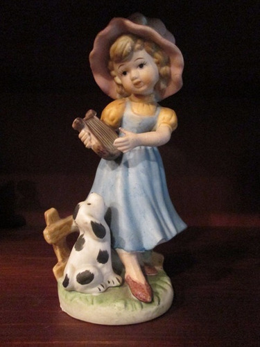 antigua figura ceramica niña 21cm alto taiwan