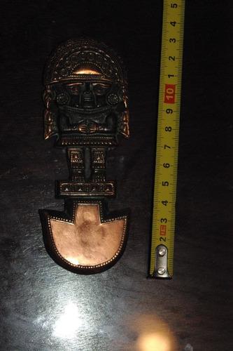 antigua figura de cobre de peru idolo inca decorativo