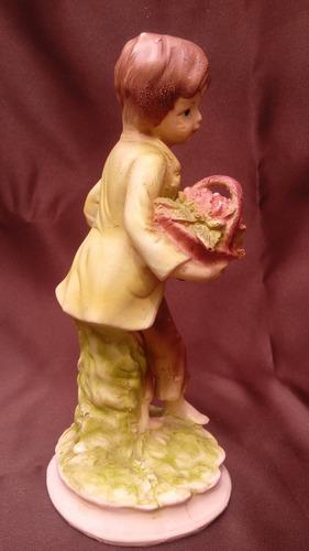 antigua figura de niño en pasta hueca