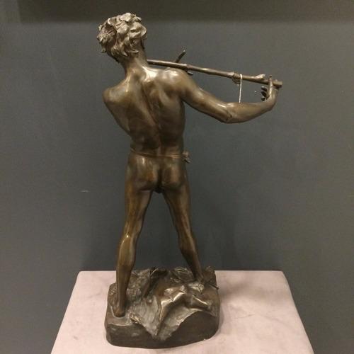 antigua figura en bronce improvisateur charpentier 1887