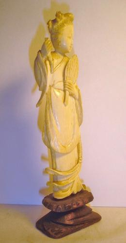 antigua figura  oriental altura 15 cm (3857a)