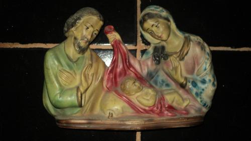 antigua figura religiosa de yeso