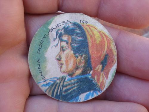 antigua figurita album totem 1965-n.149 menina portuguesa