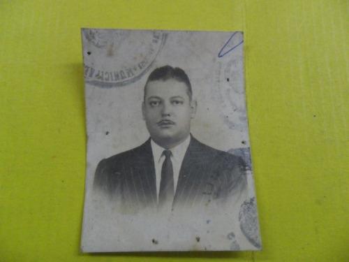 antigua foto fotografia carnet documento caballero