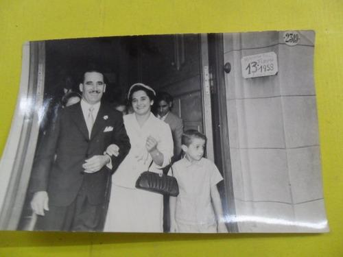 antigua foto fotografia casamiento registro civil 1958