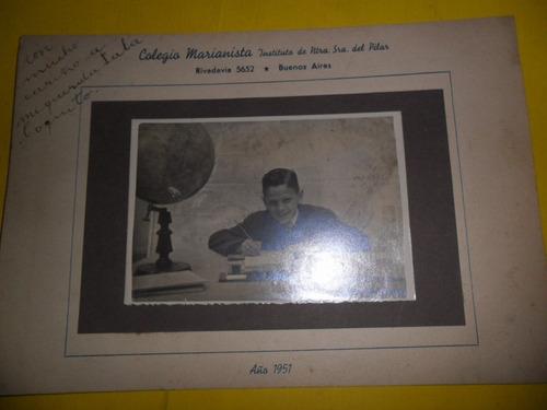 antigua foto fotografia colegio marianista 1951 sra pilar