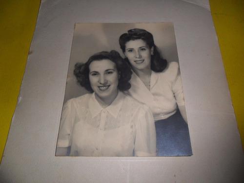 antigua foto fotografia estudio mujer dama peinado