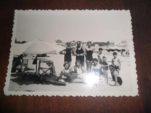 antigua foto fotografia punta del este 1937 playa bañista