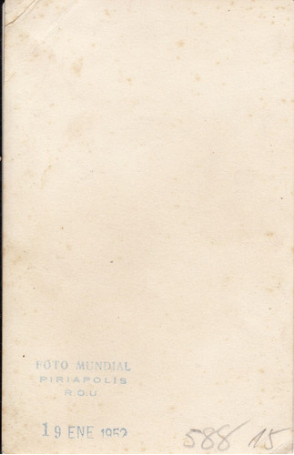 antigua foto postal 1952 piriapolis bañista con salvavidas